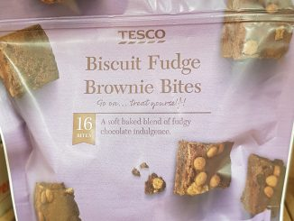 Tesco biscuit fudge brownie bites syns