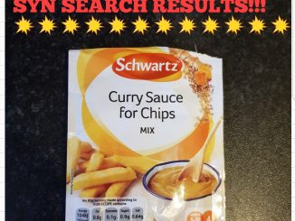 Schwartz curry sauce for chips syns