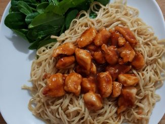 Sticky sweet chilli chicken
