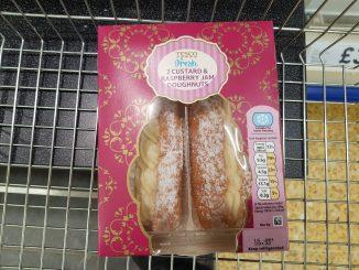 Tesco custard raspberry sauce doughnut syns